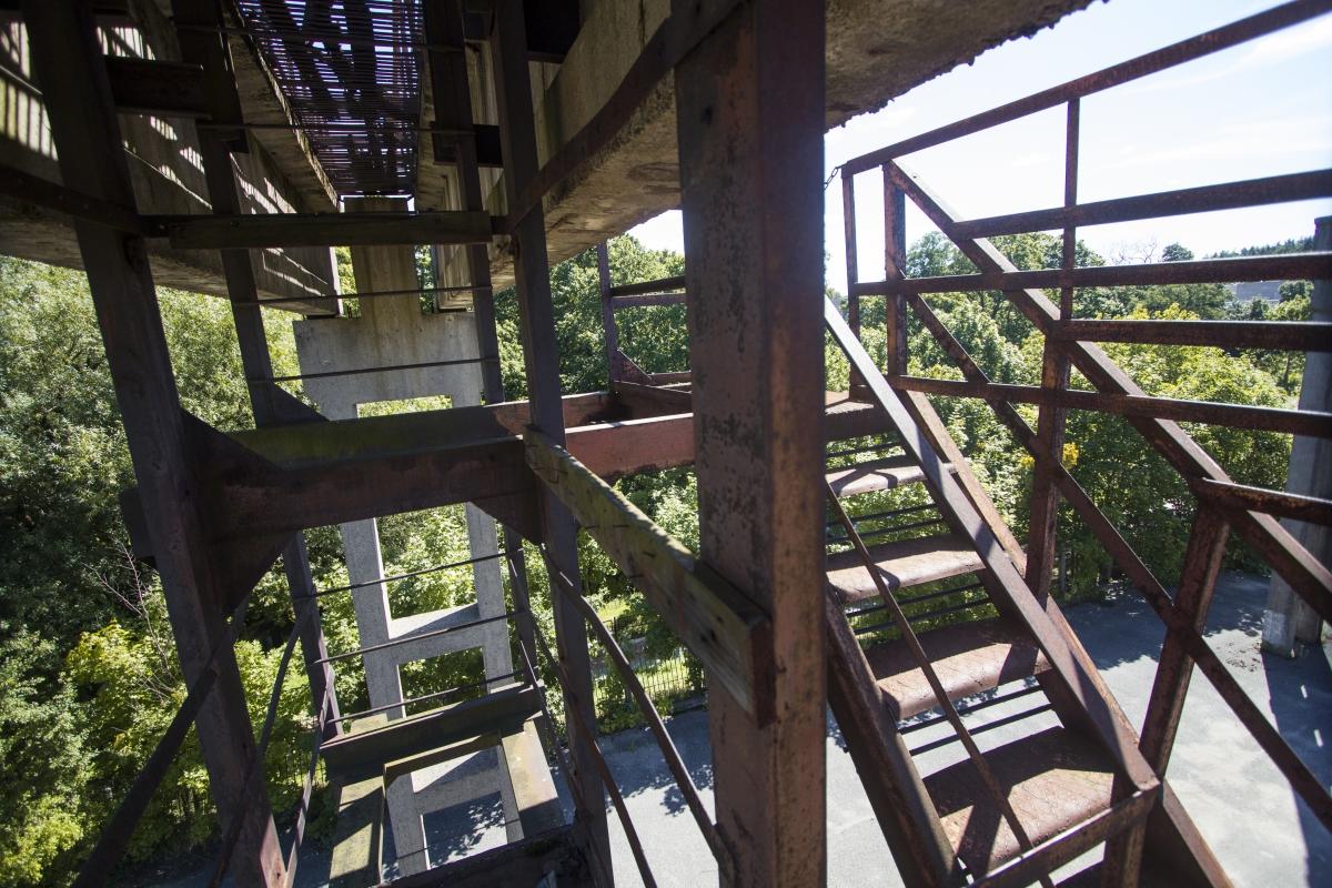 Laiptai ant platformos