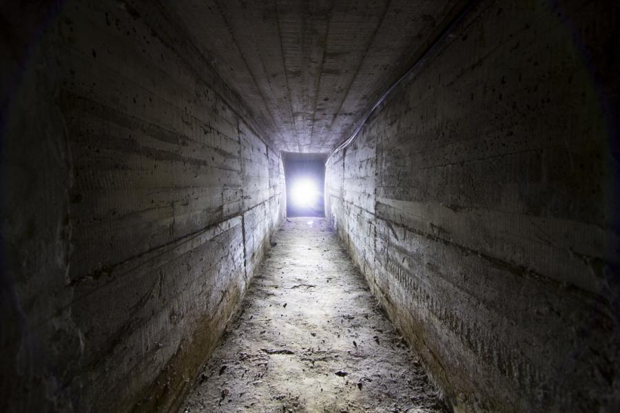 Slėptuvės evakuacinis tunelis