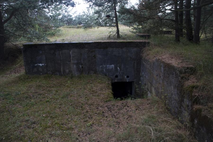 Įėjimas į bunkerį