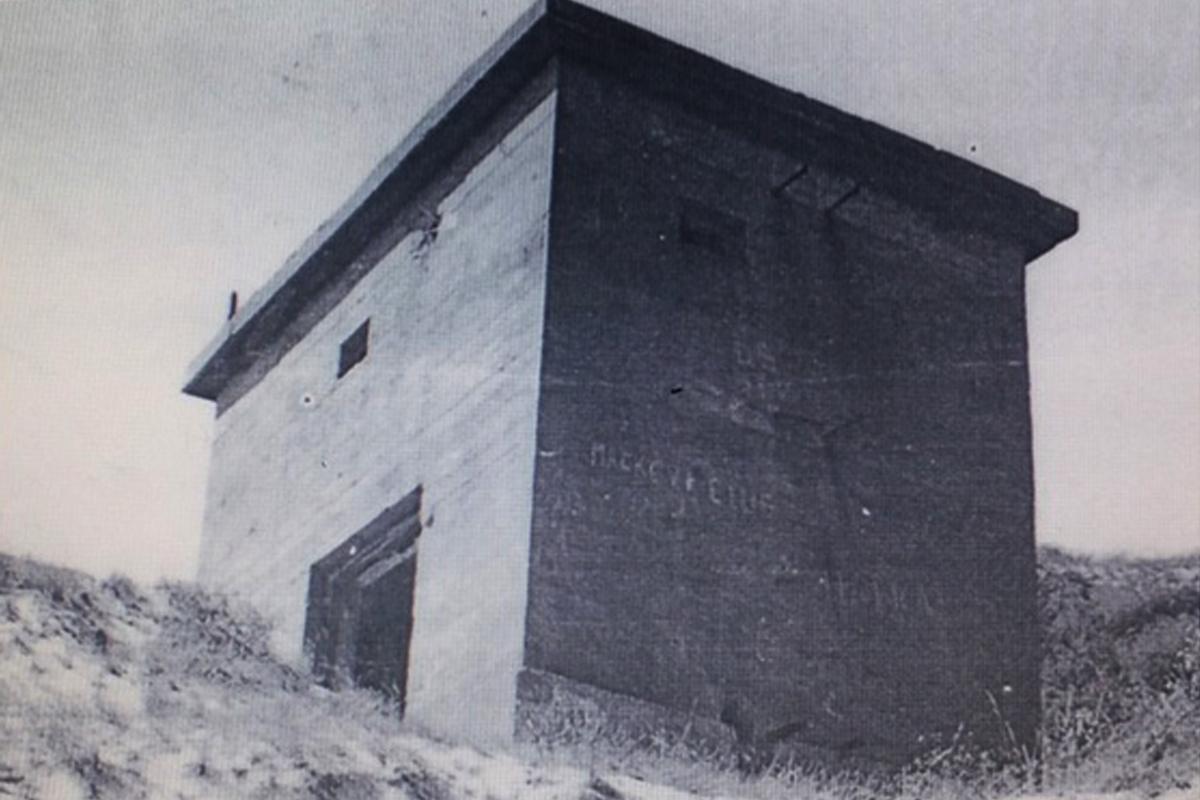 ugnies kontrolės postas, susprogdintas 1979 m. Vytauto Tamošiūno asmeninis archyvas. (2)