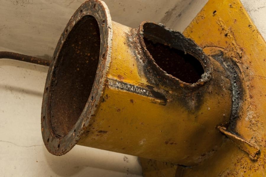 Nupjautas ventiliacijos sistemos vamzdis