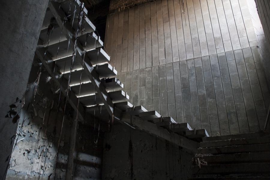 Ant laiptų kaba senos kino juostos