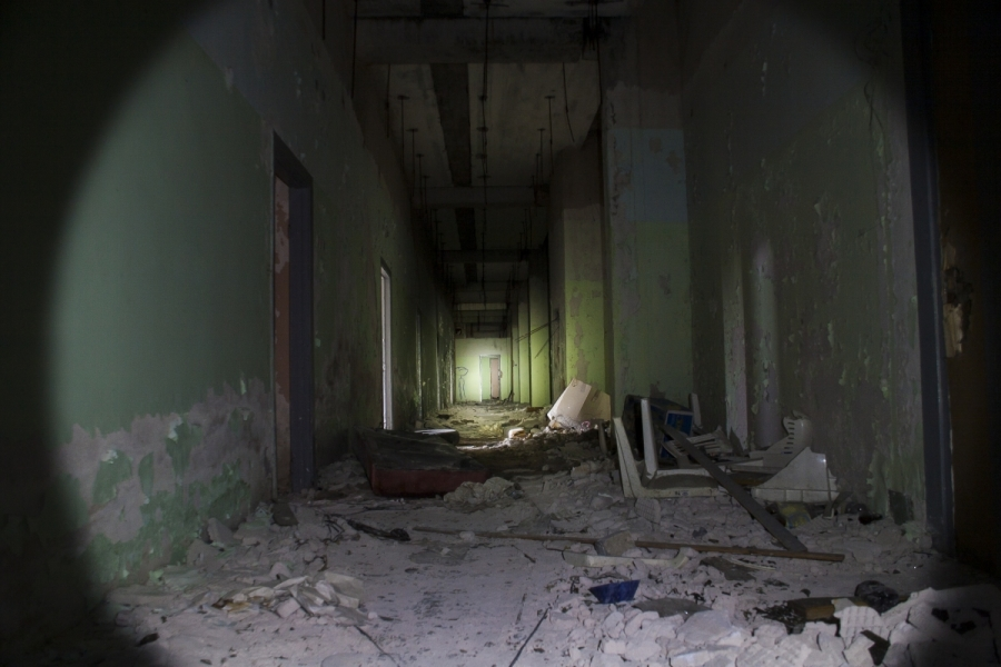 Ketvirtojo aukšto koridorius.