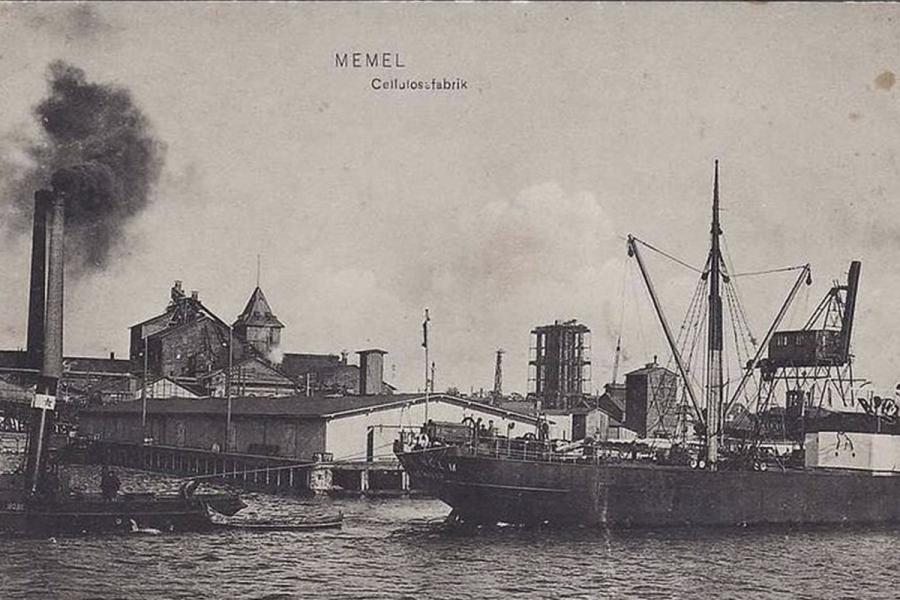 Sena fabriko nuotrauka