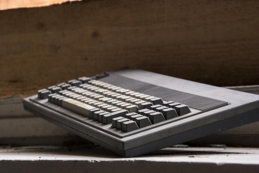 Sena kompiuterio klaviatūra