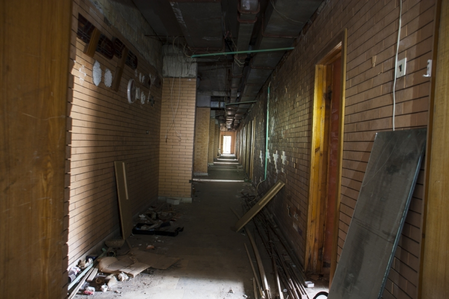 Vienas iš daugelio koridorių