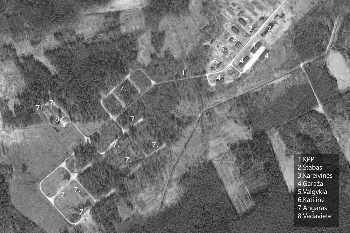 Karmėlavos raketų bazės žemėlapis BW