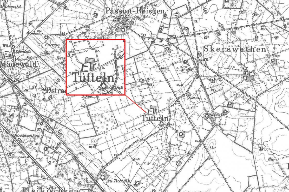 Tutliai map
